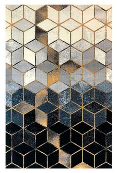 فرش ماشینی ساوین کد 4043 زمینه مشکی