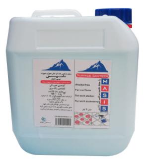 محلول ضد عفونی کننده سطوح ماسیس کد M4000 حجم 4000 میلی لیتر