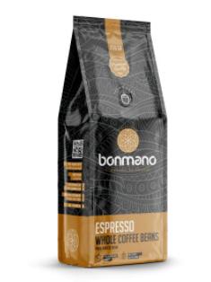 دانه قهوه اسپرسو بن مانو مقدار ۲۵۰ گرم