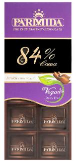 شکلات تلخ 84 درصد پارمیدا مقدار 80 گرم