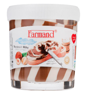 کرم کاکائو فندقی شیری فرمند مقدار 200 گرم