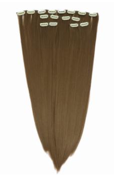 اکستنشن مو گیره دار مدل پوش قهوه ای روشن 3041c-12