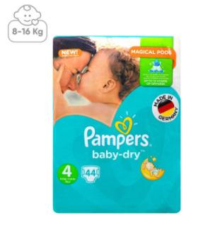 پوشک پمپرز مدل New Baby Dry سایز 4 بسته 44 عددی