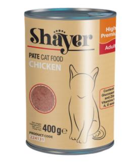 کنسرو غذای گربه شایر مدل Chicken وزن 400 گرم