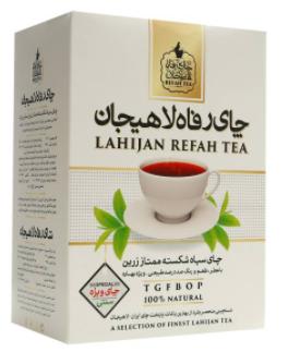 بسته چای سیاه رفاه لاهیجان مدل شکسته ممتاز زرین