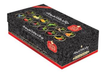 بسته چای کیسه ای رفاه لاهیجان مدل 12 طعم 60 عددی