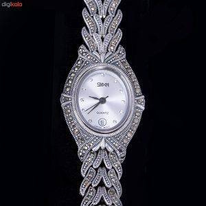 ساعت مچی عقربه ای نقره زنانه مدل GTA-0017
