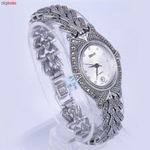 ساعت مچی عقربه ای نقره زنانه مدل GTA-193