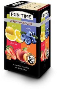 چای کیسه ای میوه ای فان تایم مدل گلچین بسته 20 عددی